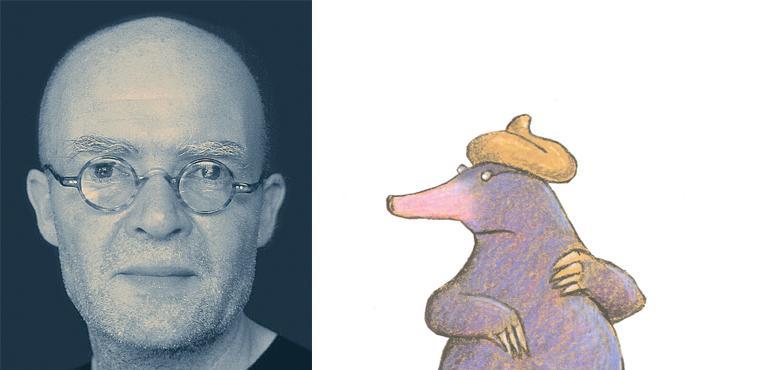 Wolf Erlbruch, foto: Peter Hammer Verlag. Illustration ur