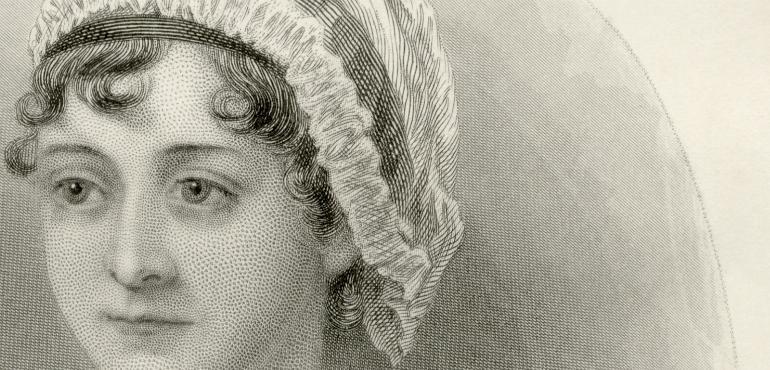Jane Austen efter en teckning av hennes syster Cassandra.