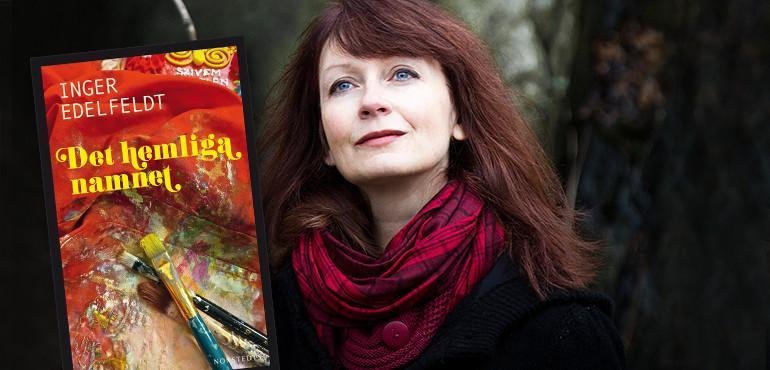 Inger Edelfeldt i Rotundan på Stadsbiblioteket. Foto: Alice Thorburn
