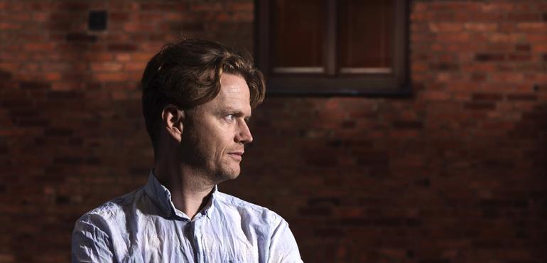 Författaren Andreas Palmaer. Foto: Magnus Liam Karlsson